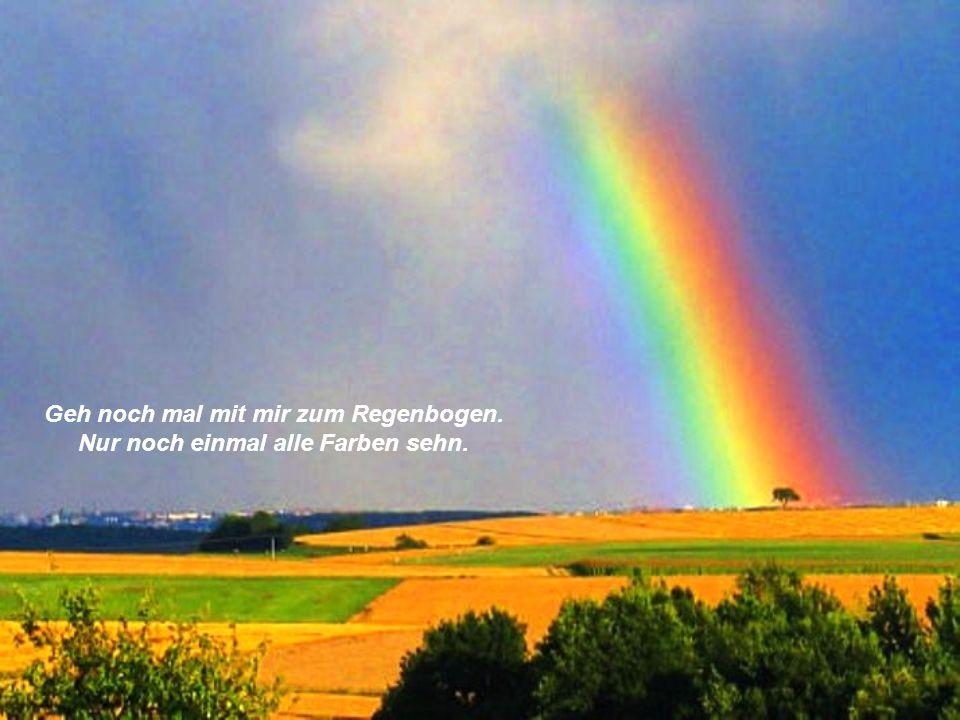 Geh noch mal mit mir zum Regenbogen. Nur noch einmal alle Farben sehn.
