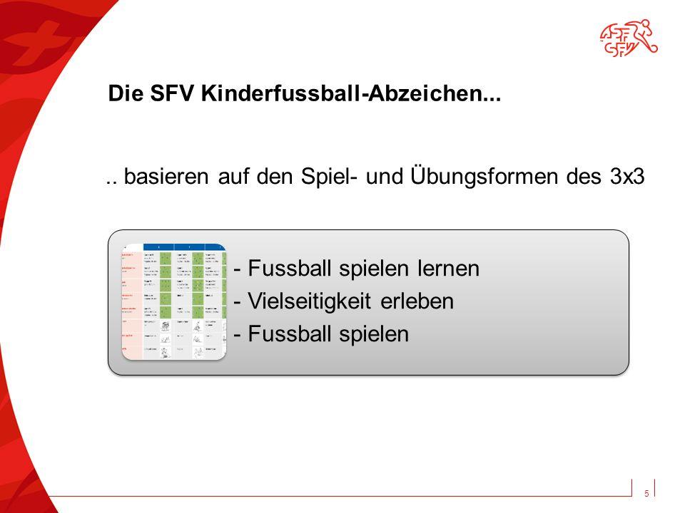 Die SFV Kinderfussball-Abzeichen...