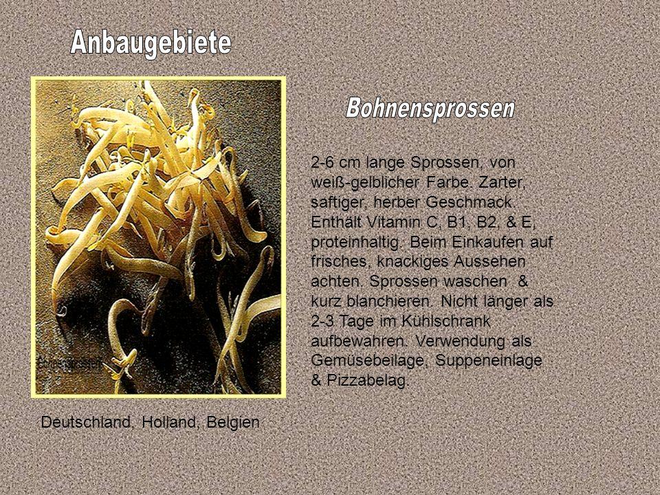 Anbaugebiete Bohnensprossen