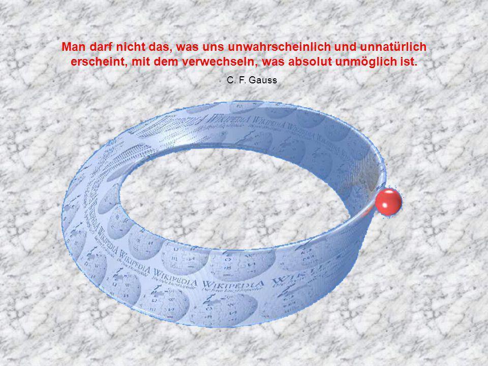 Man darf nicht das, was uns unwahrscheinlich und unnatürlich erscheint, mit dem verwechseln, was absolut unmöglich ist.