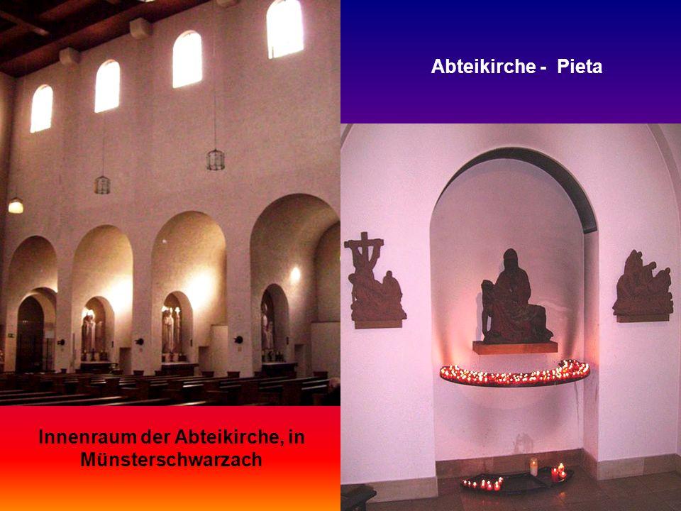 Innenraum der Abteikirche, in Münsterschwarzach
