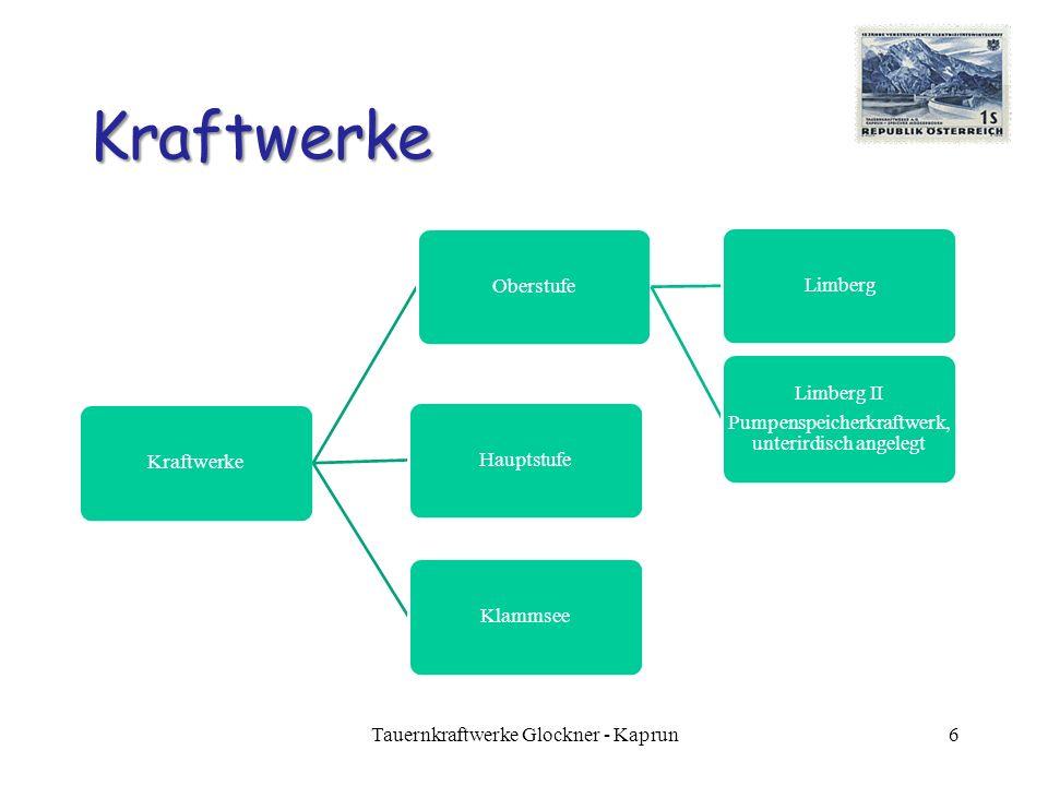 Kraftwerke Tauernkraftwerke Glockner - Kaprun Kraftwerke Hauptstufe
