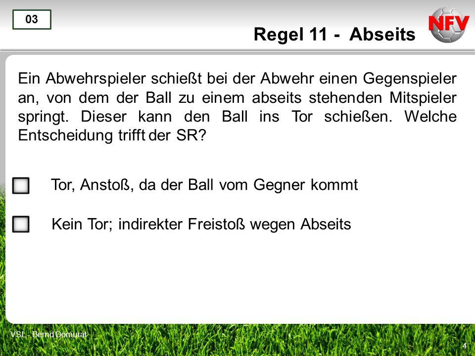Regel 11 - Abseits 03.