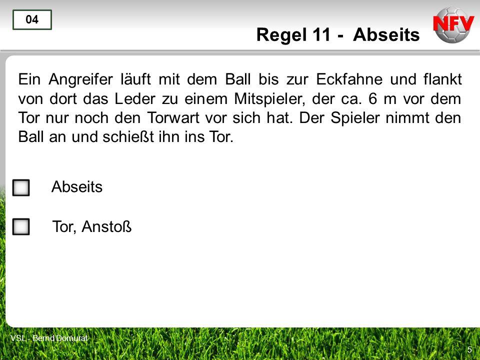 Regel 11 - Abseits 04.