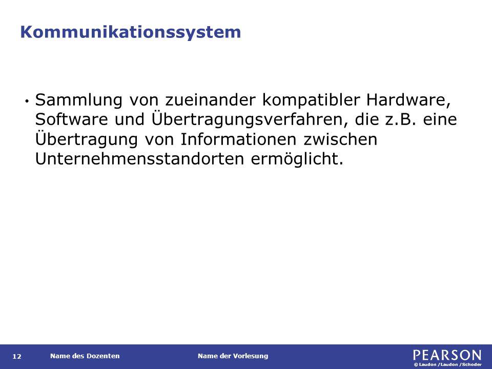 Kommunikationssystem eines Unternehmens