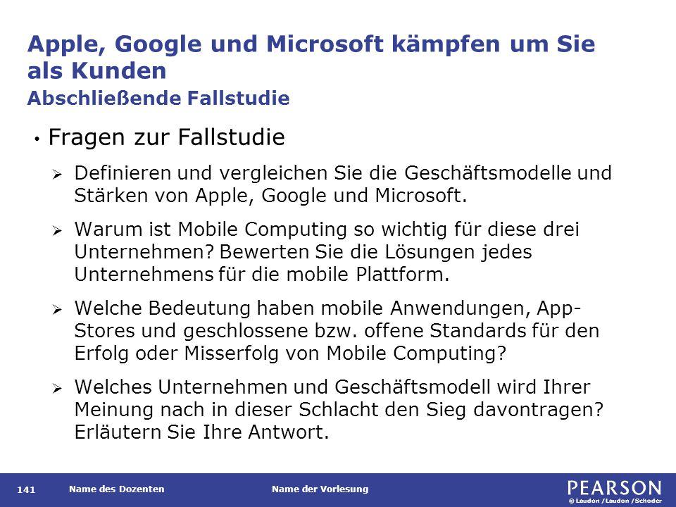 Apple, Google und Microsoft kämpfen um Sie als Kunden