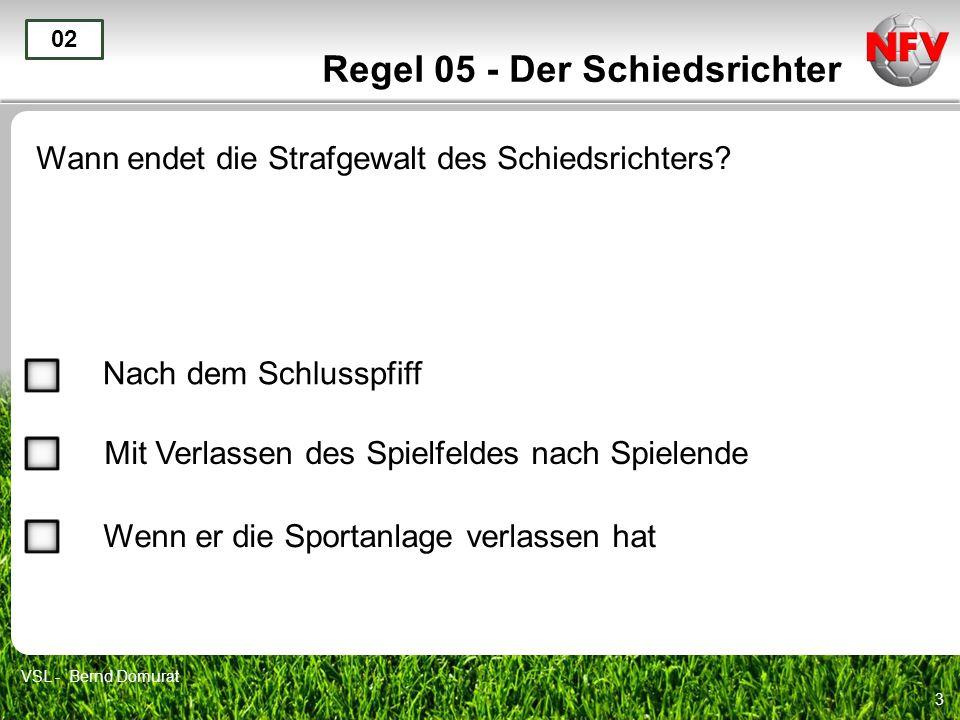 Regel 05 - Der Schiedsrichter