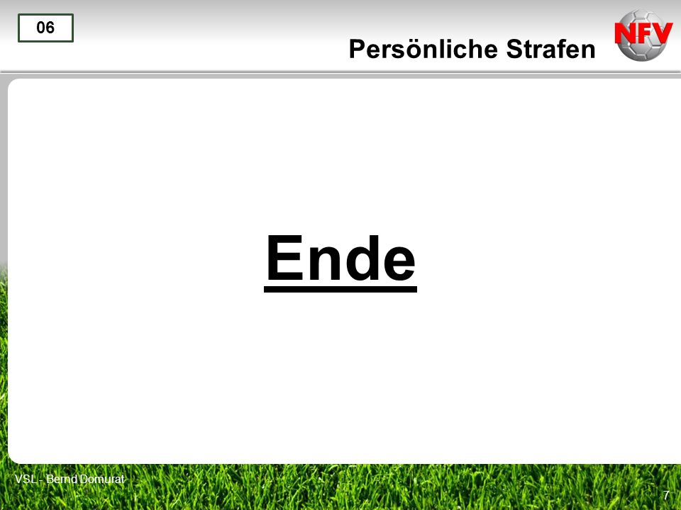 Persönliche Strafen 06 Ende VSL - Bernd Domurat