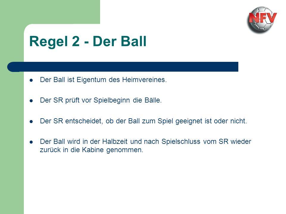 Regel 2 - Der Ball Der Ball ist Eigentum des Heimvereines.