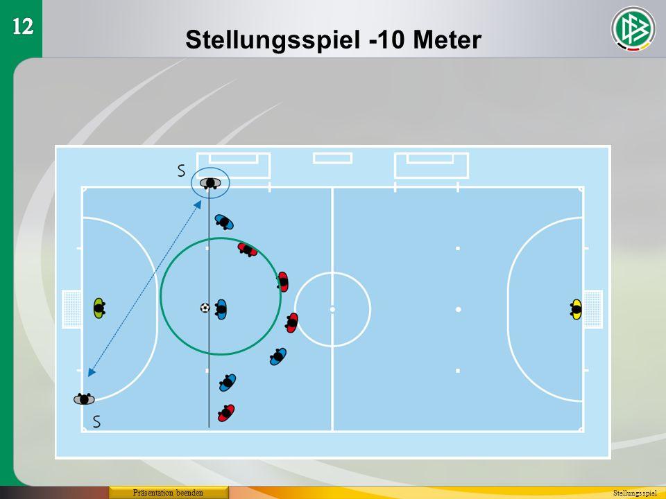 Stellungsspiel -10 Meter