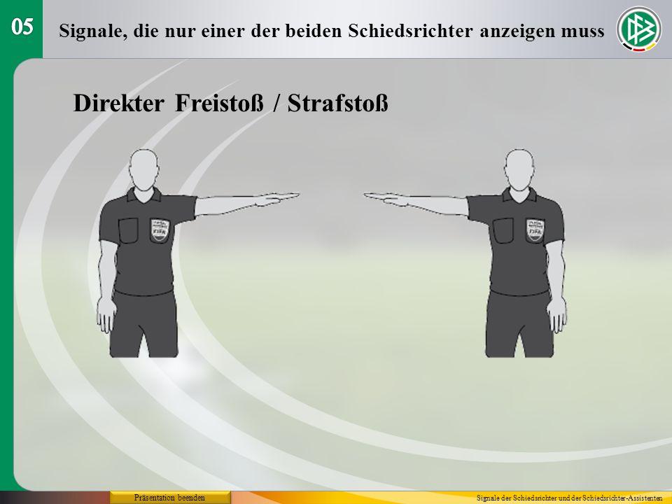 Direkter Freistoß / Strafstoß