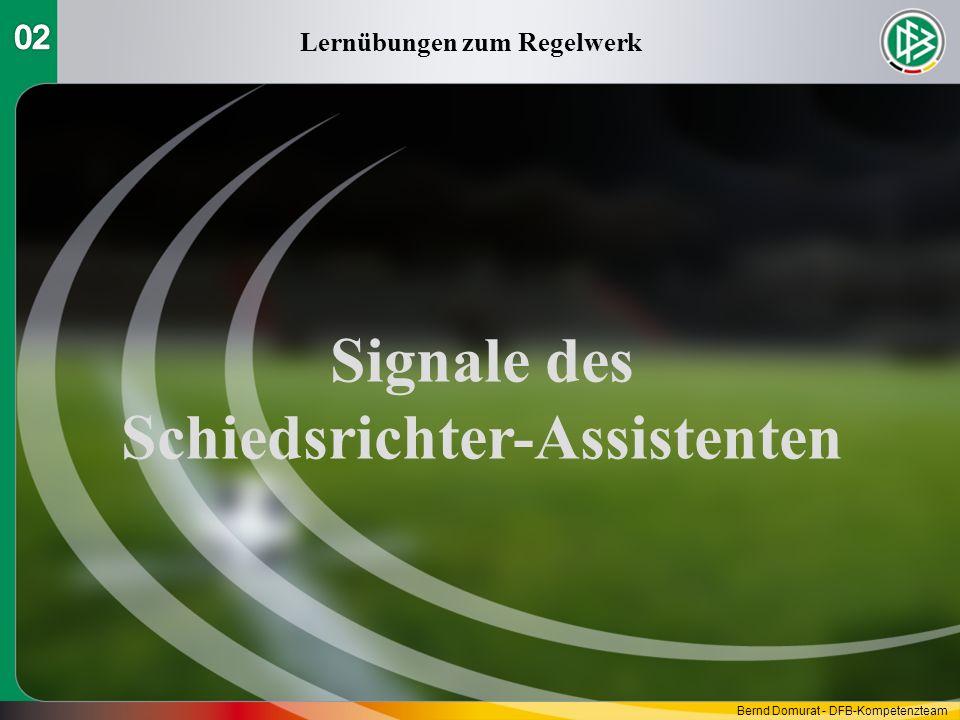 Lernübungen zum Regelwerk Signale des Schiedsrichter-Assistenten
