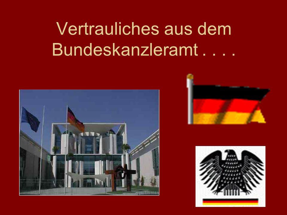 Vertrauliches aus dem Bundeskanzleramt . . . .