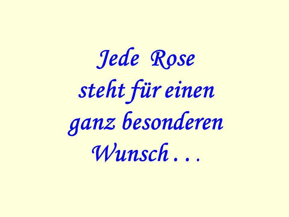 Jede Rose steht für einen ganz besonderen Wunsch . . .