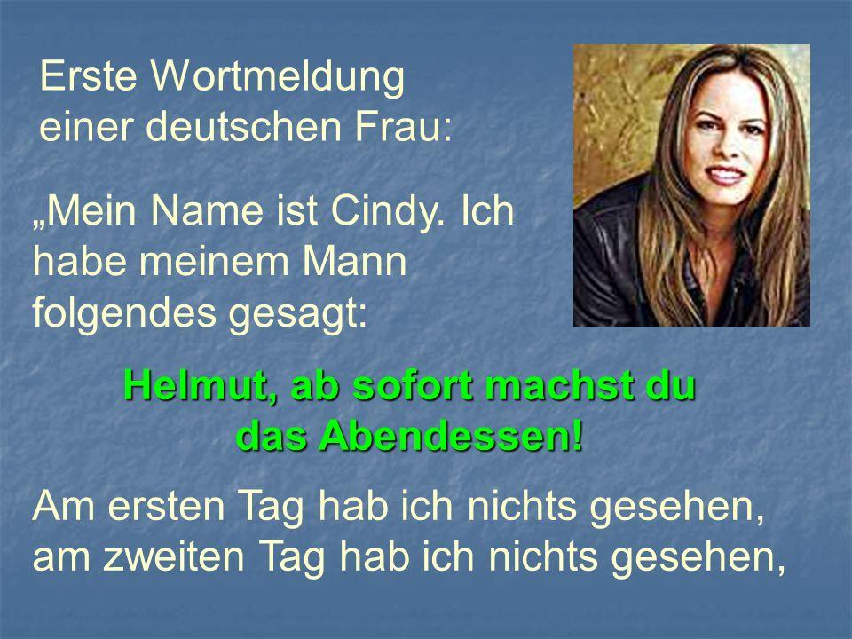 Erste Wortmeldung einer deutschen Frau: