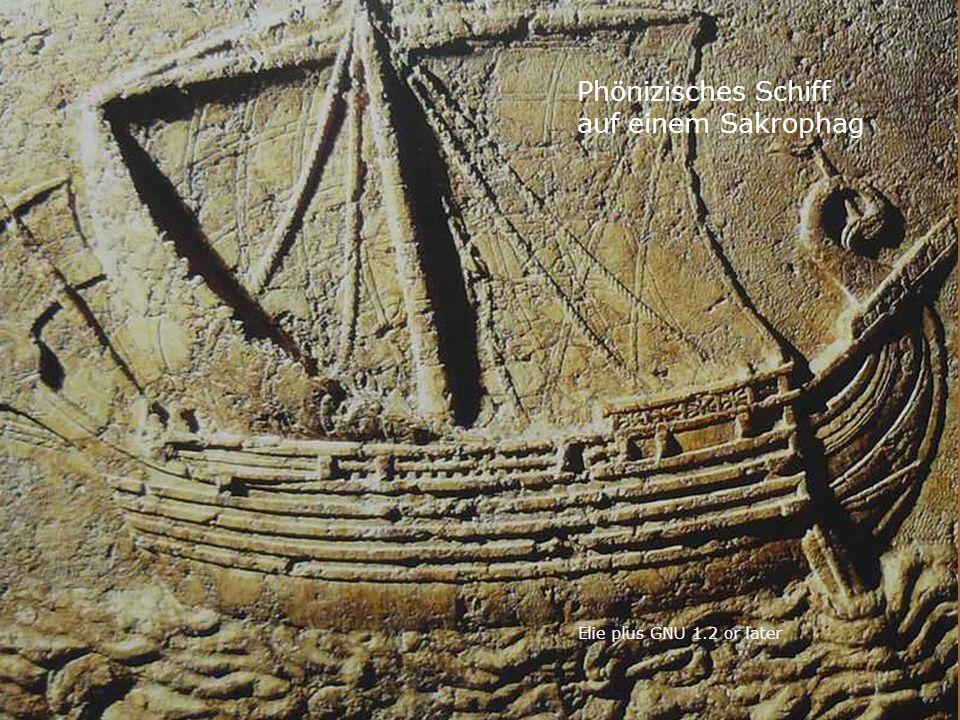 Phönizisches Schiff auf einem Sakrophag Elie plus GNU 1.2 or later