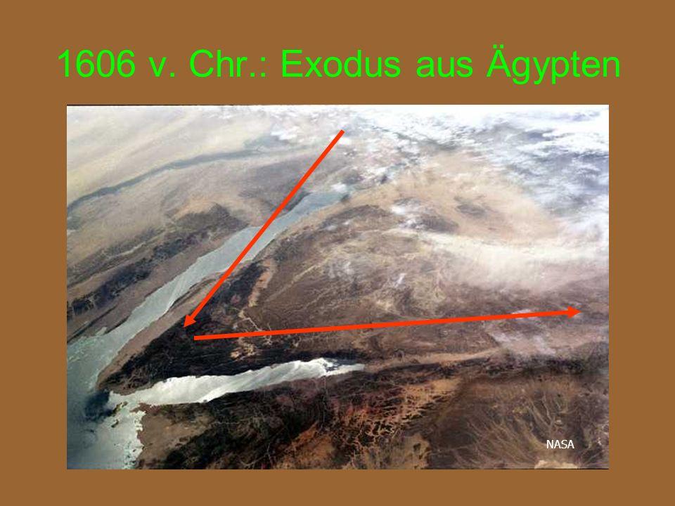 1606 v. Chr.: Exodus aus Ägypten