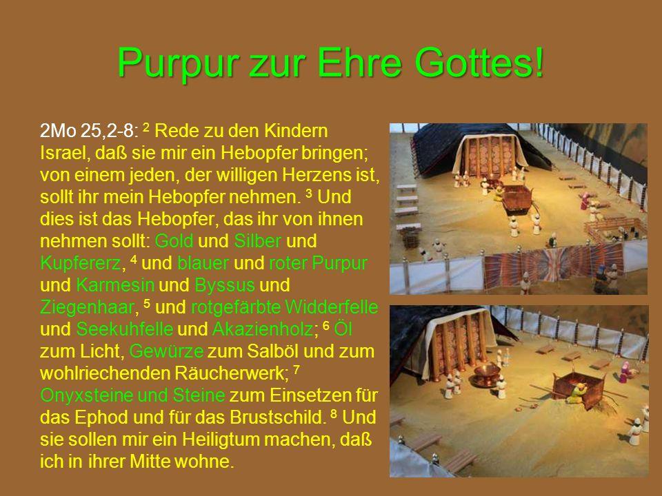 Purpur zur Ehre Gottes!