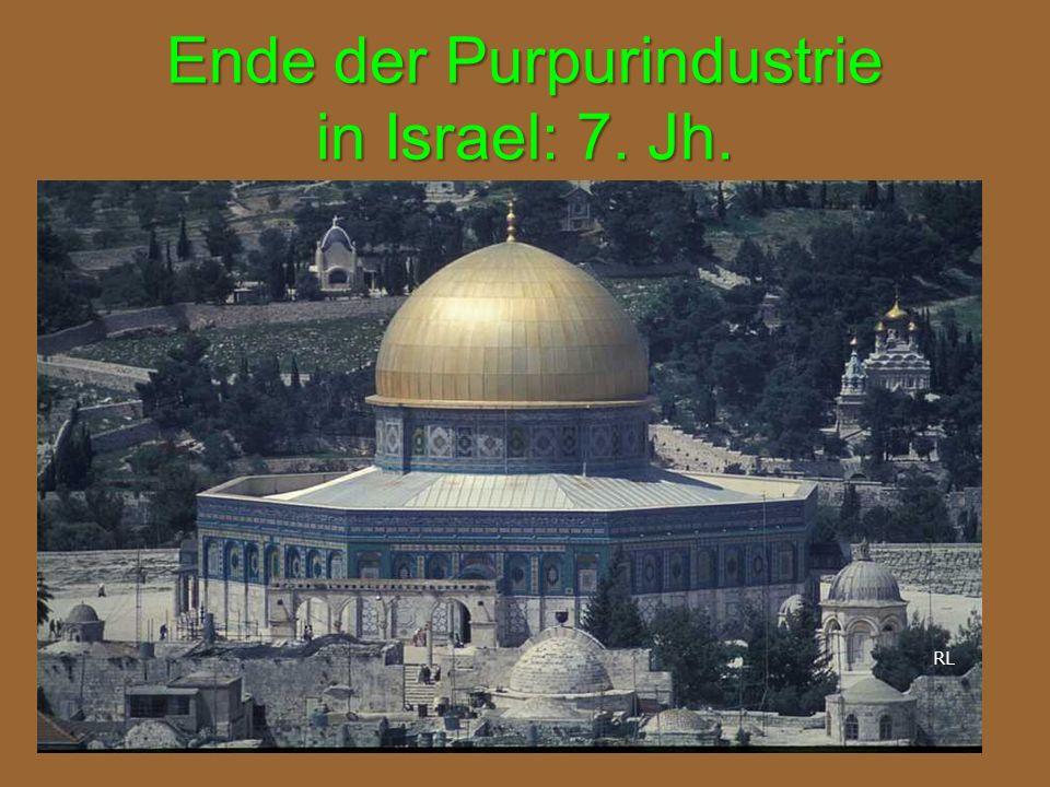 Ende der Purpurindustrie in Israel: 7. Jh.