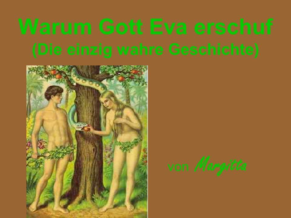 Warum Gott Eva erschuf (Die einzig wahre Geschichte)