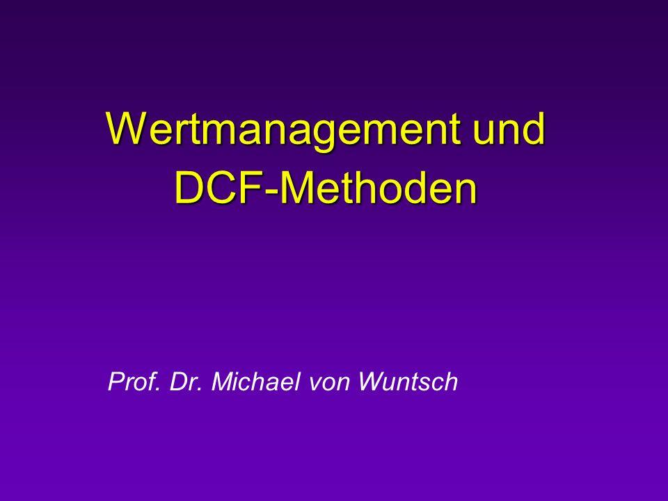 Wertmanagement und DCF-Methoden
