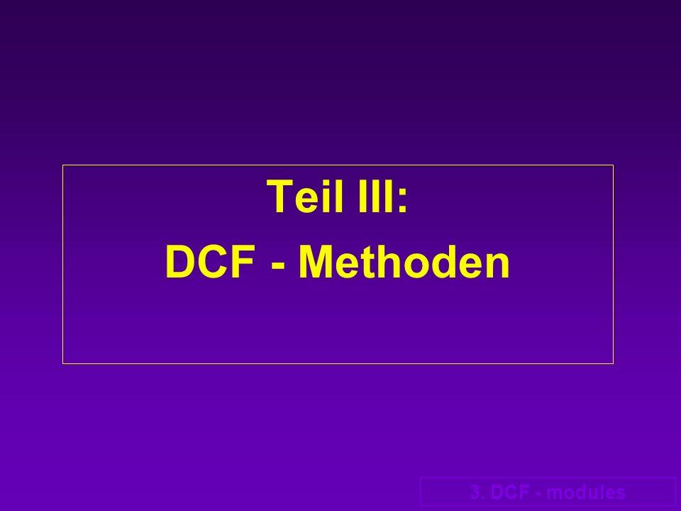 Teil III: DCF - Methoden