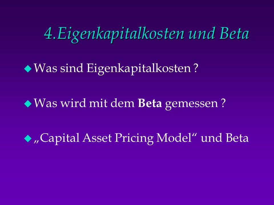 4.Eigenkapitalkosten und Beta