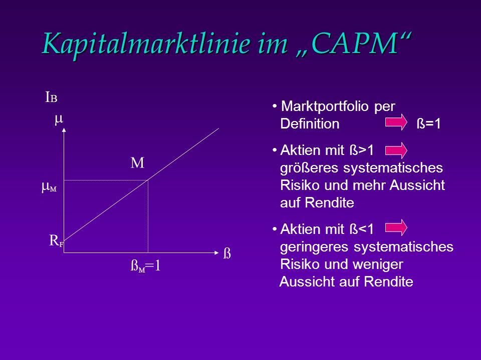 "Kapitalmarktlinie im ""CAPM"
