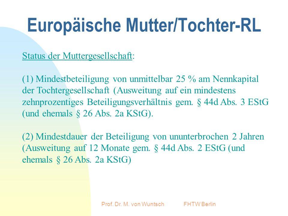 Europäische Mutter/Tochter-RL