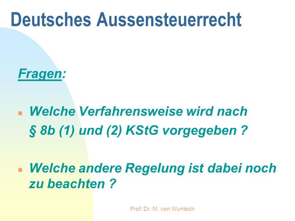 Deutsches Aussensteuerrecht