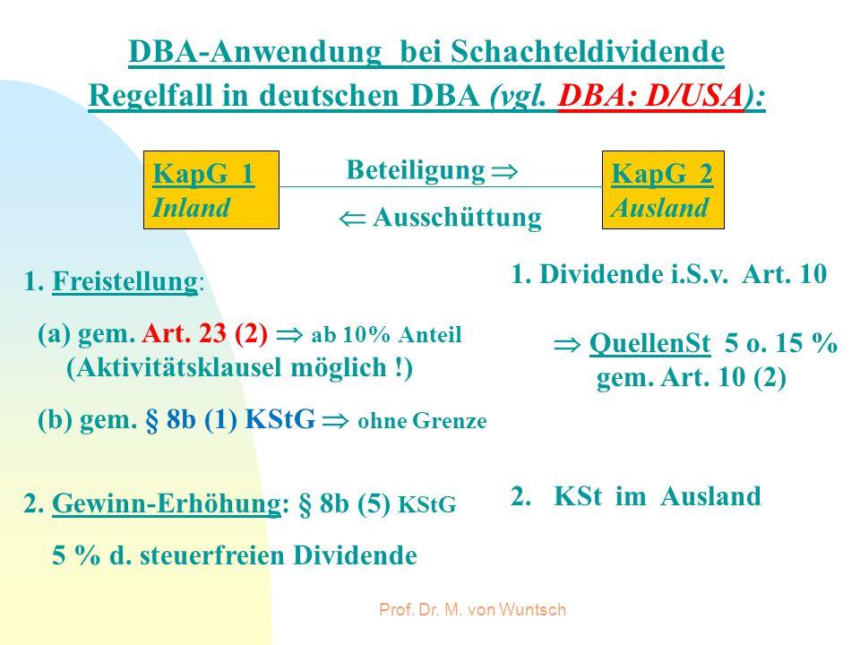 DBA-Anwendung bei Schachteldividende
