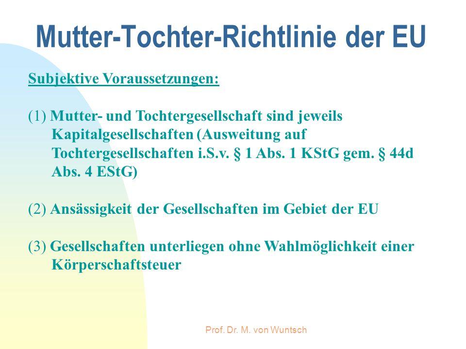 Mutter-Tochter-Richtlinie der EU