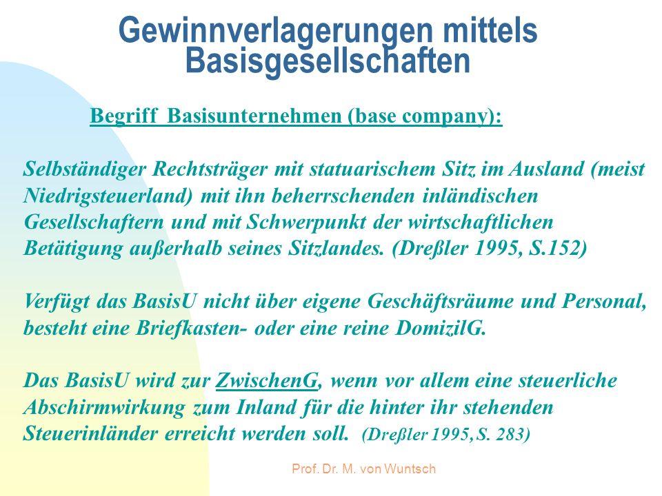 Gewinnverlagerungen mittels Basisgesellschaften