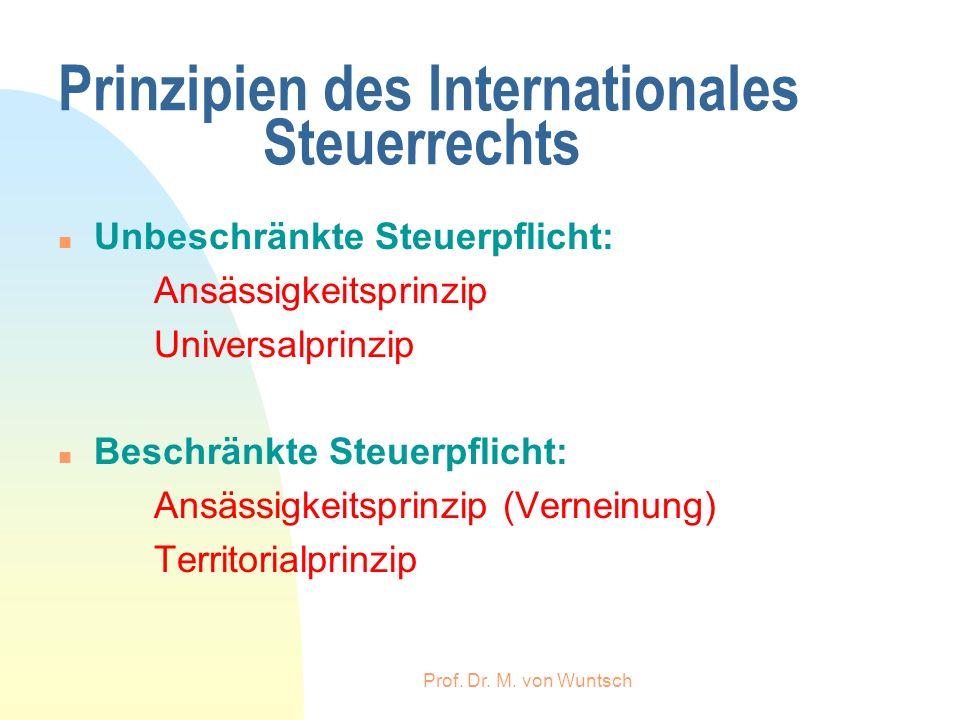 Prinzipien des Internationales Steuerrechts