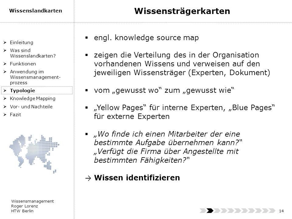 Wissensträgerkarten engl. knowledge source map