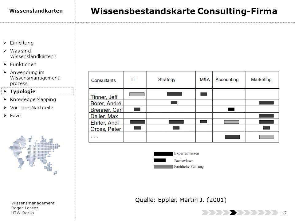 Wissensbestandskarte Consulting-Firma