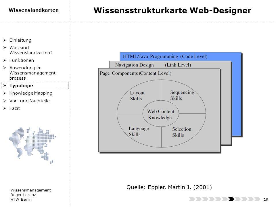 Wissensstrukturkarte Web-Designer