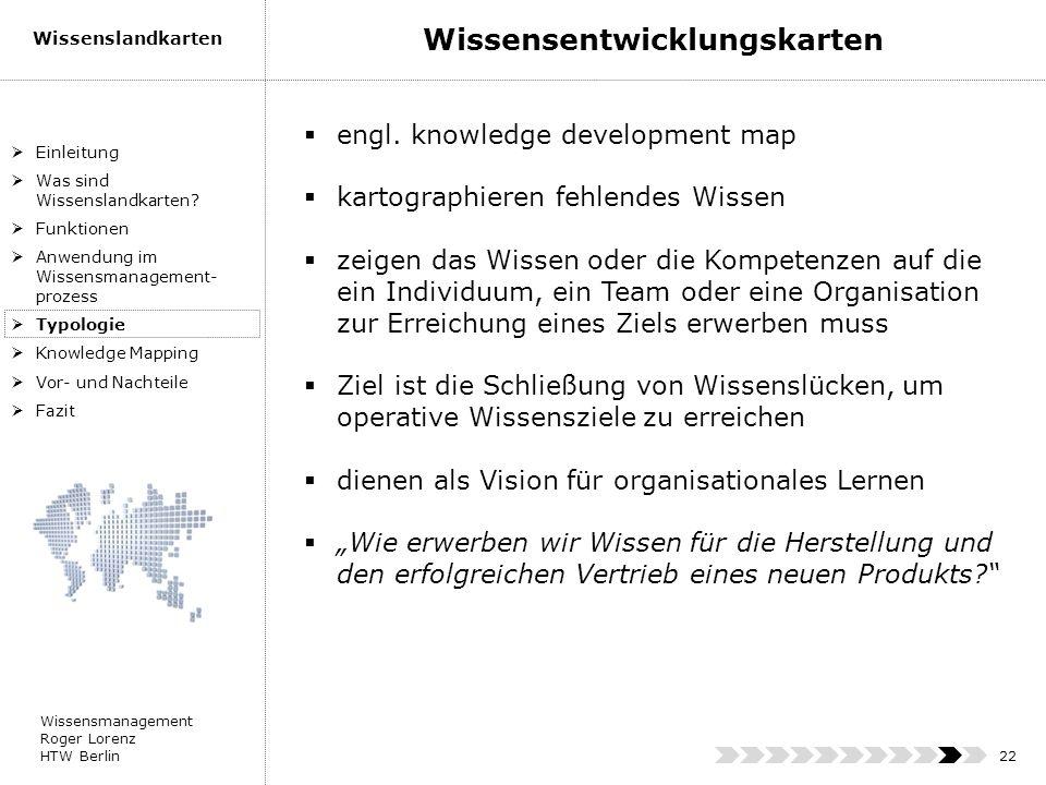 Wissensentwicklungskarten