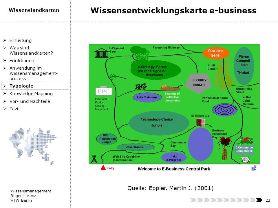 Wissensentwicklungskarte e-business