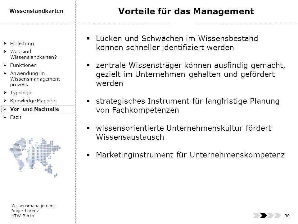 Vorteile für das Management