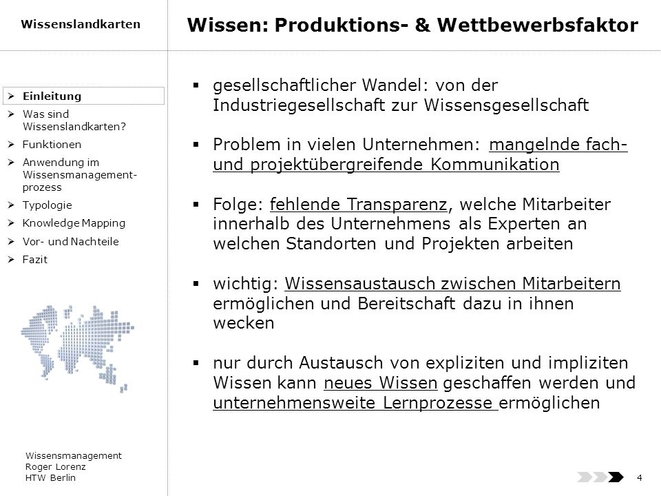 Wissen: Produktions- & Wettbewerbsfaktor