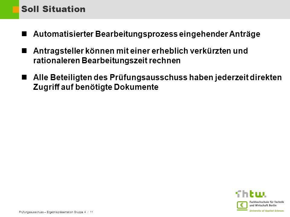 Soll Situation Automatisierter Bearbeitungsprozess eingehender Anträge