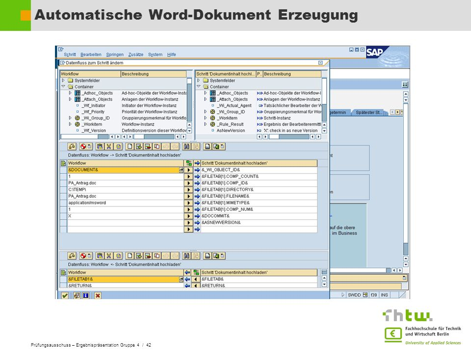 Automatische Word-Dokument Erzeugung