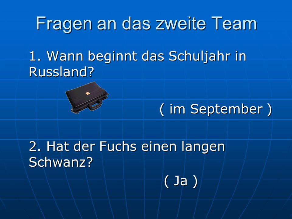 Fragen an das zweite Team