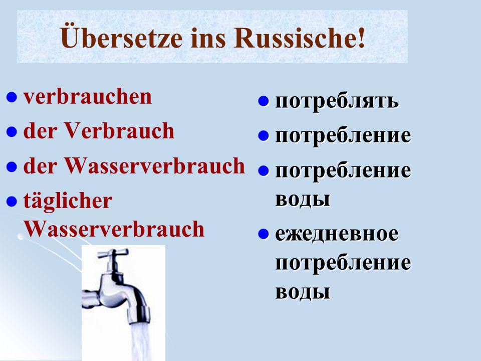 Übersetze ins Russische!