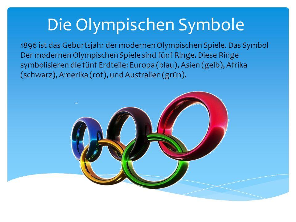 Die Olympischen Symbole