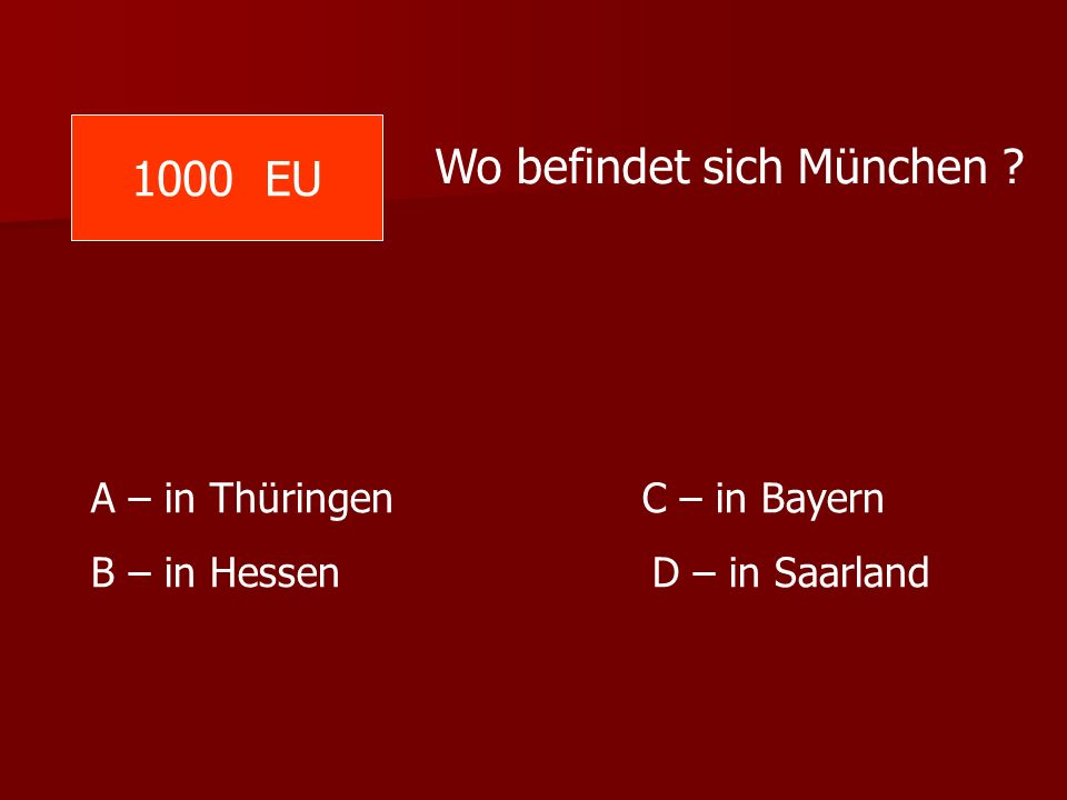 Wo befindet sich München