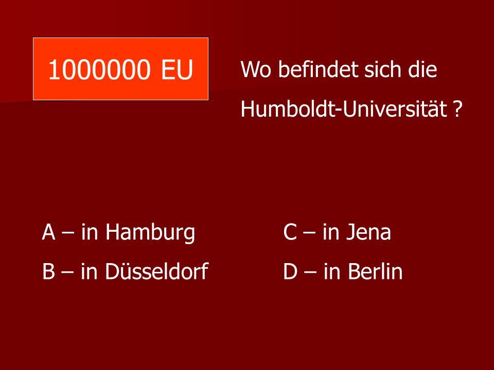 1000000 EU Wo befindet sich die Humboldt-Universität