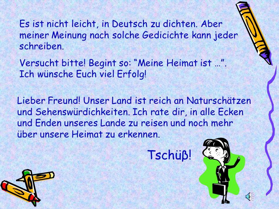 Es ist nicht leicht, in Deutsch zu dichten