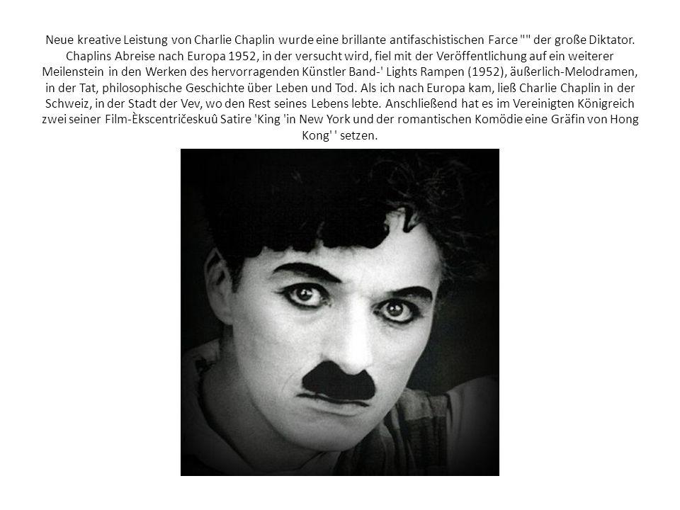 Neue kreative Leistung von Charlie Chaplin wurde eine brillante antifaschistischen Farce der große Diktator.